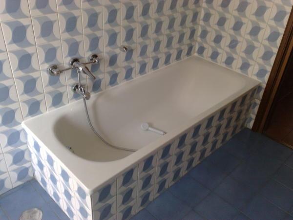 Trasformazione vasca in doccia milano tel 800968995 sostituzione vasca da bagno in acciaio - Vasche da bagno in acciaio smaltato ...
